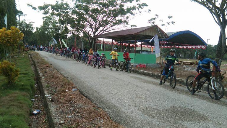 Sepeda Santai Hut Ri Ke 74, Desa Gunung Mulia